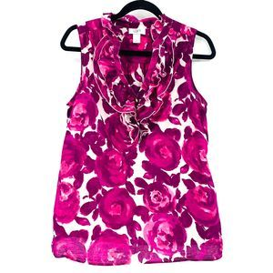 Ann Taylor LOFT Factory Floral Sleeveless Blouse